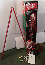 1994 MR CHRISTMAS ANIMATED STEPPING SANTA CLAUS CLIMBING LADDER DECORATION CHINA