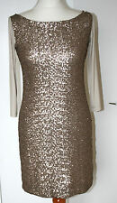 PHASE EIGHT MADE IN ITALY SMALL UK8-10 EU36-38 STONE DRESS WITH SEQUIN FRONT