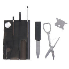Multifunktionale tragbare Outdoor Survival Camping Tool Card mit LED-Licht-Lupe