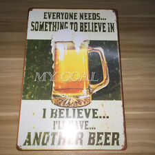 Retro Beer Metal Tin Sign Plaque Vintage Picture Sheet Bar Pub Decor Man Cave