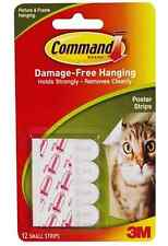 3M Command 12 Small Damage Free Poster Picture Wall Hanging Strips