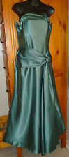 JESSICA McCLINTOCK Green Strapless BRIDESMAID PROM FORMAL DRESS  36-31-44 sz 12