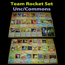 PL Unlimited COMPLETE Pokemon TEAM ROCKET Card Uncommon/Common Set Trainer TCG