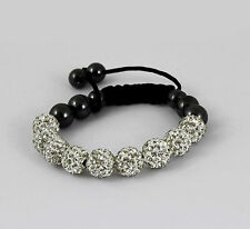 Shamballa 10mm Bracelets Disco Balls Clay Band  Friendship Bead Crystal Shambala