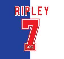 N. 7 Ripley Blackburn ROVER HOME 1995-1996 CALCIO NAMESET per Camicia
