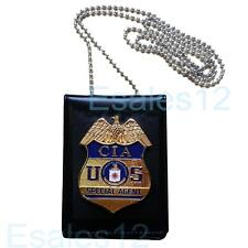 Collection USA CIA Special Agent Officer Police Badge Card ID Cards Holder Cos