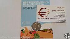 Coincard 2 euro 2014 fdc Portogallo Anno Internaz Agricultura Familiar Portugal