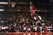 """Michael Jordan Famous Foul Line Dunk Vintage Poster 24"""" x 36"""" Sport l01"""