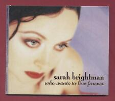 SARAH BRIGHTMAN - Who Wants To Live Forever (1997 4 trk CDS)