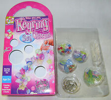 NEW MAKE YOUR OWN BEADED KEYRING CHARMS CRAFT SET JEWELLERY MAKING KIT KC