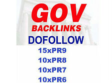 15xPR9 ,10xPR8,10xPR7 and 10xPR6 Permanent DoFollow .GOV Backlinks. Best SEO!
