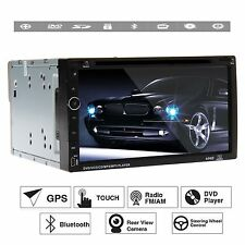 """6.95"""" GPS Navigation HD Double 2 DIN Car Stereo DVD Player Bluetooth iPod MP3 SD"""