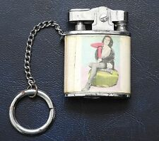 Vintage RISQUE Japanese LIGHTER Top's CHEESECAKE Keychain SOUVENIR