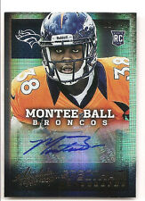 Montee Ball 2013 Absolute Spectrum Gold Autograph 12/25 Auto RC