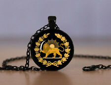 Persian Iranian Lion & Sun Fashion Jewelry Pendant Necklace Top quality