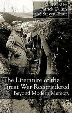 The Literature of the Great War Reconsidered: Beyond Modern Memory-ExLibrary