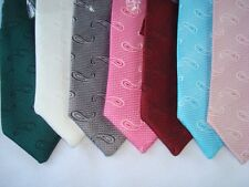 Mocha Biege Paisley Prom Semi Formal Necktie Pre-tied Bands, Performers, Choirs