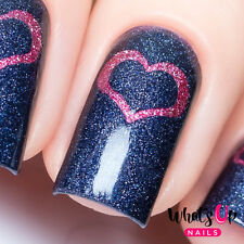 Open Heart Stencils for Nails, Valentine's Day Nail Stickers, Nail Vinyls