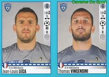 62-63 JEAN-LOUIS LECA - THOMAS VINCENSINI SC.BASTIA STICKER FOOT 2017 PANINI