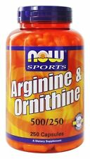 NOW Foods L-Arginine 500mg, 250 Capsules, Free Shipping, New