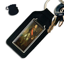 ADMIRAL LORD NELSON OBLONG LEATHER KEYRING / KEYFOB
