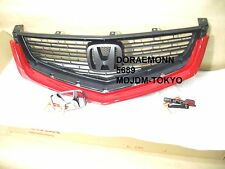 JDM 06-07 HONDA ACCORD RED CL7 CL9 EURO R FRONT GRILLE EURO EMBLEM  ACURA TSX