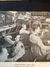 K3-8 Ephemera 1950s Picture Stratocruiser Flight Deck Crew At Controls