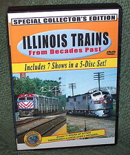 """20226 TRAIN VIDEO DVD BOX SET """"ILLINOIS TRAINS FROM DECADES PAST"""" CHICAGO & MORE"""