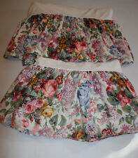 Vintag Ralph Lauren Allison Floral Shabby Chic French Country Bedskirt Twin Pair