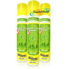3x MoustiCare Mosquito & Insect Repellent Skin Spray FAMILY 125ml Deet Free