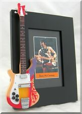 PAUL McCARTNEY Miniature Guitar Frame R Beatles