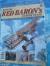 BUILD THE RED BARON'S FIGHTER PLANE FOKKER DR1  HACHETTE  ISSUE 15  NEW SEALED