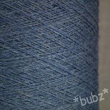 ZEGNA BARUFFA CASHWOOL PURE MERINO WOOL 2/30s DENIM BLUE LACEWEIGHT COBWEB YARN