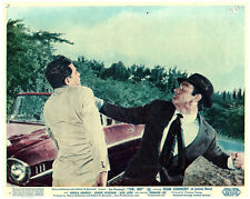 DR. NO JAMES BOND SEAN CONNERY ORIGINAL BRITISH LOBBY CARD 1962 FIGHT BY CAR