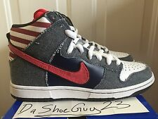 NIKE DUNK HIGH PREMIUM SB BORN IN THE USA sz 9 313171 100 WTD SUPREME SPNY