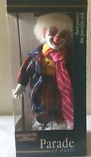 Hand Painted Porcelain Musical Clown Doll New In Original Box
