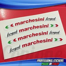 Adesivi Cerchi MARCHESINI Forged Bianco Rosso e Nero