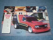 """1974 Chevy LUV Vintage Custom Mini-Truck Article """"Whole Lotta Luv"""" ---From 1985-"""