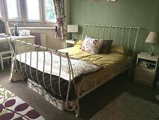 Gorgeous Laura Ashley Cream Metal King Size Metal Sleigh Bed