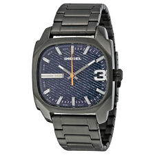 Diesel Shifter Blue Dial Gunmetal Ion-plated Mens Quartz Watch DZ1693