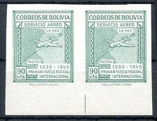 BOLIVIA Michel # 384, Pair Imperforate, MH, VF