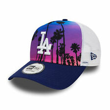 New Era WEST COAST stampa una cornice Camionista LA Dodgers Cap Multi Colore Taglia Unica