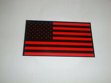 USA RED FLAG STICKERS  MOTORBIKE HELMETS DECALS US AMERICA BLACK OPS 3.5""