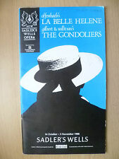 OFFENBACH'S LA BELLE HELENE GILBERT & SULLIVAN'S THE GONDOLIERS 1988~Sadler's We