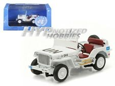 GREENLIGHT 1:43 JEEP WILLY'S UNITED NATIONS DECORATION DIE-CAST WHITE 86308