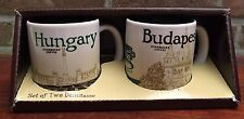 Starbucks City Mug Hungary & Budapest Set of two Demitasse NEU SKU
