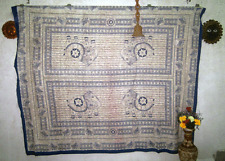 INDIAN BLOCK SCREEN PRINTED BED SHEET BED COVER BED SPREAD WALL HANGING TAPESTRY