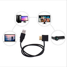 HDMI Male To Female Connector + USB 2.0 Male Charger Cable Splitter Adapter 50cm