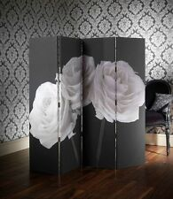 ARTHOUSE SCREEN DRESSING PRIVACY SCREEN ROOM DIVIDER SALON PARTITION ROSES BLACK