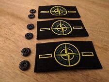 3 Stone Island badge patch CON 6 PULSANTI